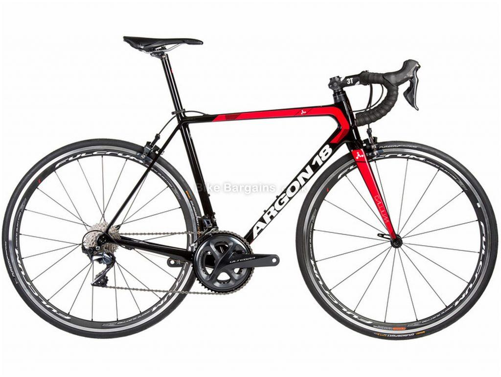 Argon 18 Gallium Ultegra Carbon Road Bike 2018 S, Black, Red, Carbon, 700c, Double Chainring, 11 Speed, Caliper Brakes
