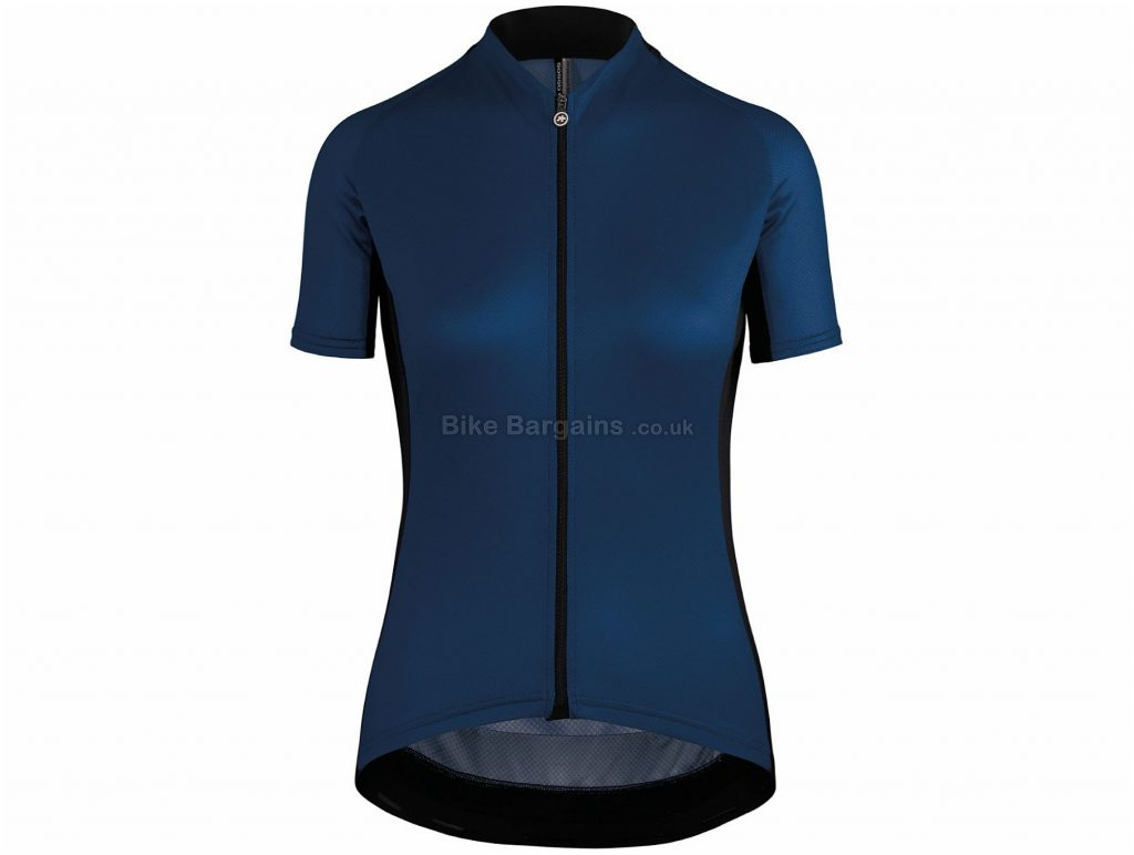 Assos Ladies Uma GT Short Sleeve Jersey XL, Blue, Full-Length Zip, Ladies, Short Sleeve, Polyester, Polyamide, Elastane