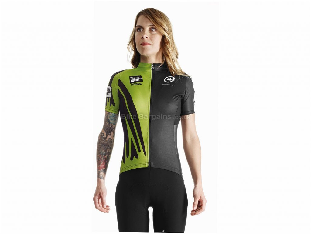 Assos Ladies capeepicXC_evo7 Short Sleeve Jersey XL, Black, Red, Green, Breathable, Ladies, Short Sleeve, Polyester, Polyamide, Elastane