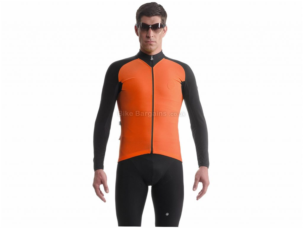 Assos iJ.tiBuru_evo7 Jacket XS, Black, Orange, Highly Breathable, Long Sleeve, Polyamide, Elastane, Polyester