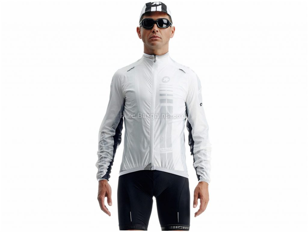 Assos sJ.blitzFeder Shell Jacket XL, White, Long Sleeve, Men's