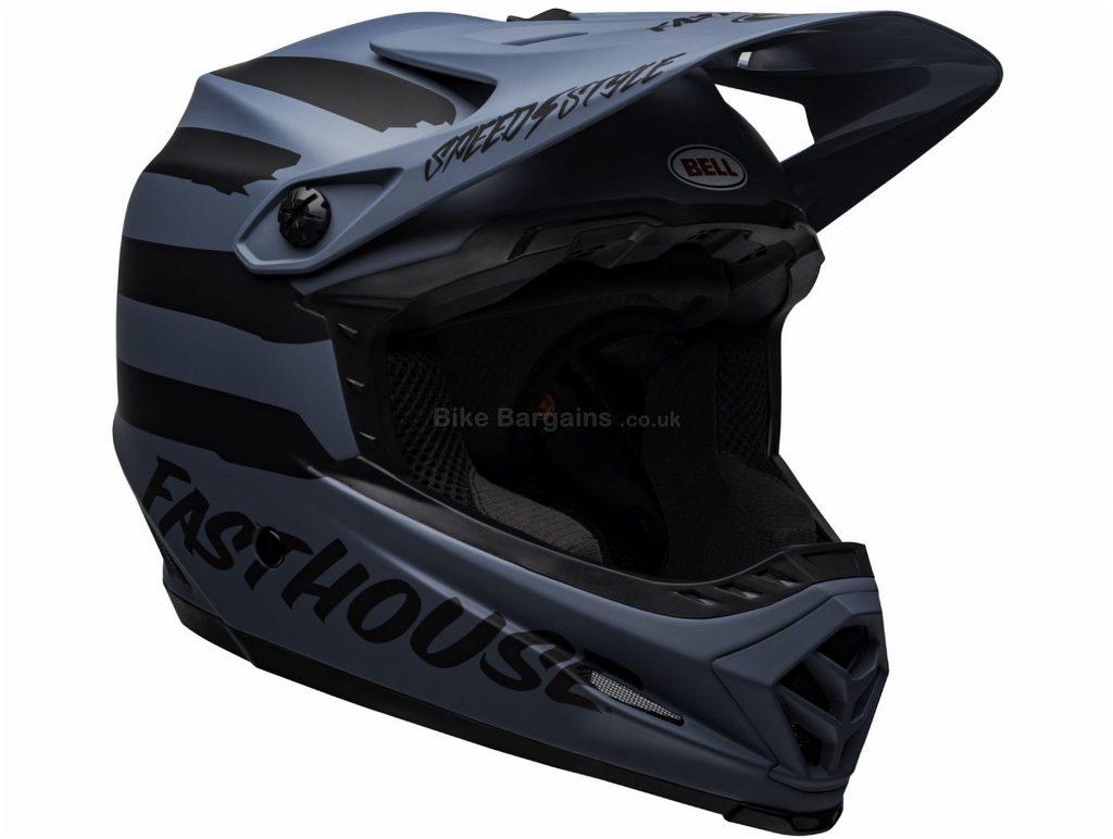 Bell Full-9 Fasthouse Ltd Full Face MTB Helmet 2019 XS,S, Blue, Black, 3 Brow Ports, 10 vents, Men's, 1.05kg, Carbon