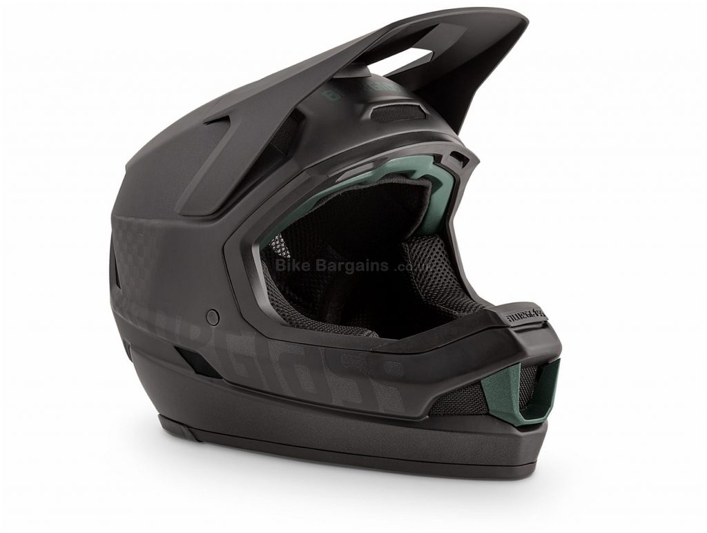 Bluegrass Legit Carbon Full Face MTB Helmet M, Black, Red, Yellow, Breathable Chin Guard, 15 vents, Men's, Carbon