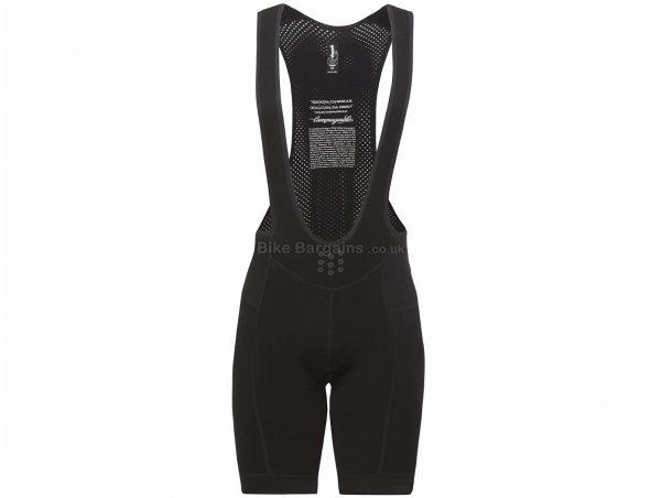 Campagnolo C-TECH Winter Bib Shorts XL, Black, Rear Zipped Pocket, Men's, Polyamide, Elastane