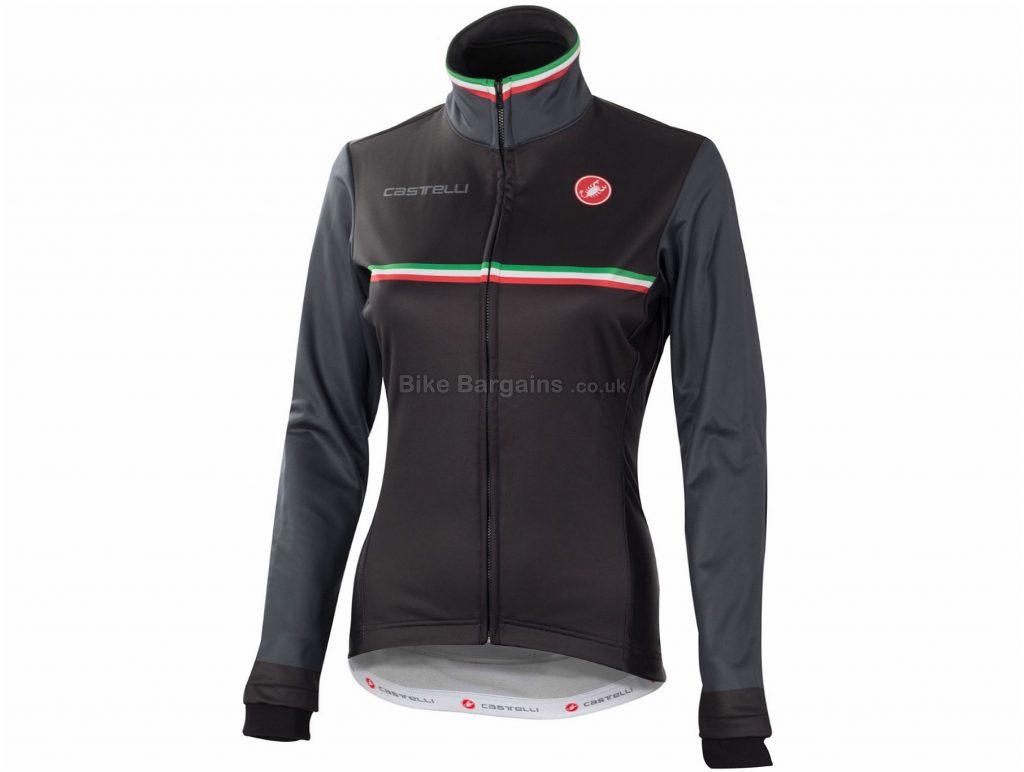 Castelli Ladies Exclusive Monza Windstopper Jacket XS, Black, Long Sleeve, Ladies