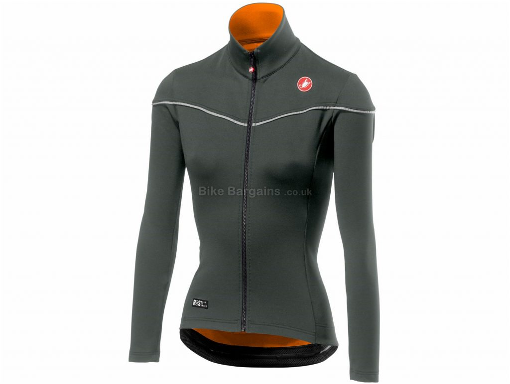 Castelli Ladies Nelmezzo ROS Long Sleeve Jersey XL, Grey, Orange, Long Sleeve, Ladies