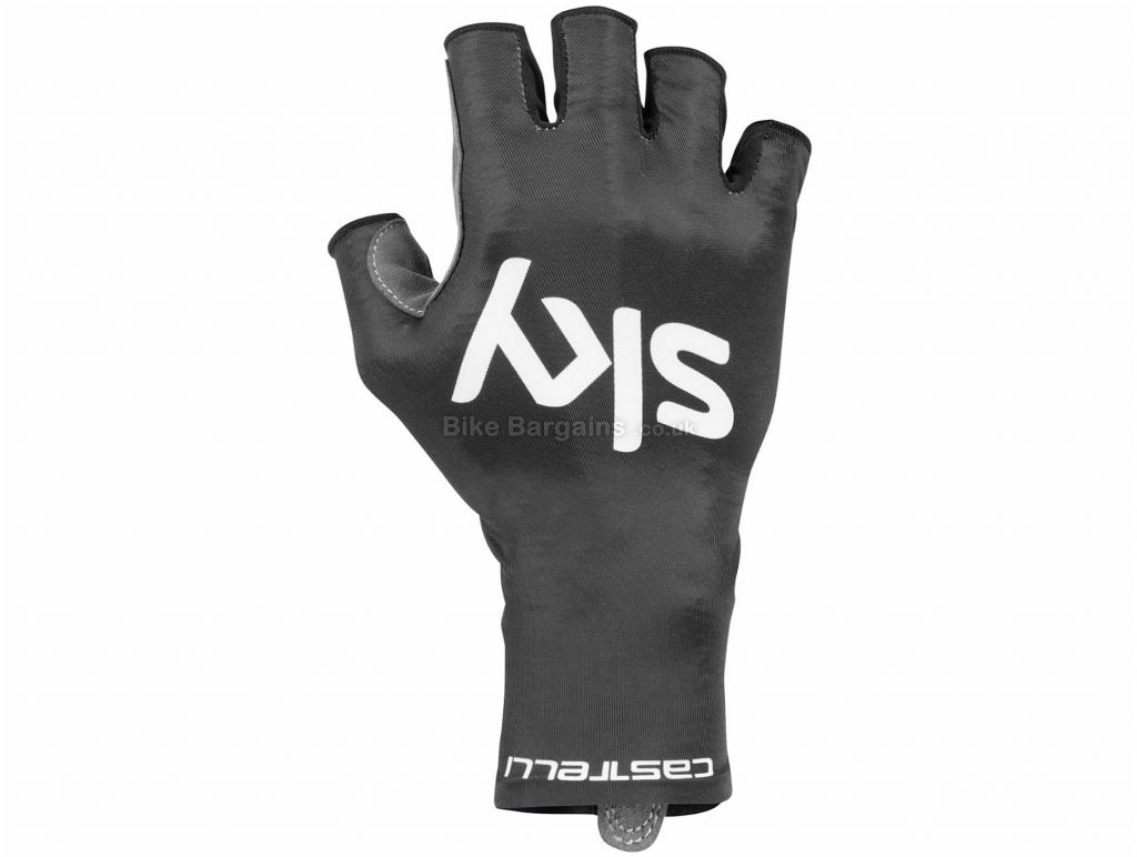 Castelli Team Sky Aero Race Mitts XL, Black, Aerodynamic Fit, Mitts, Men's, Polyester, Elastane, Polyurethane