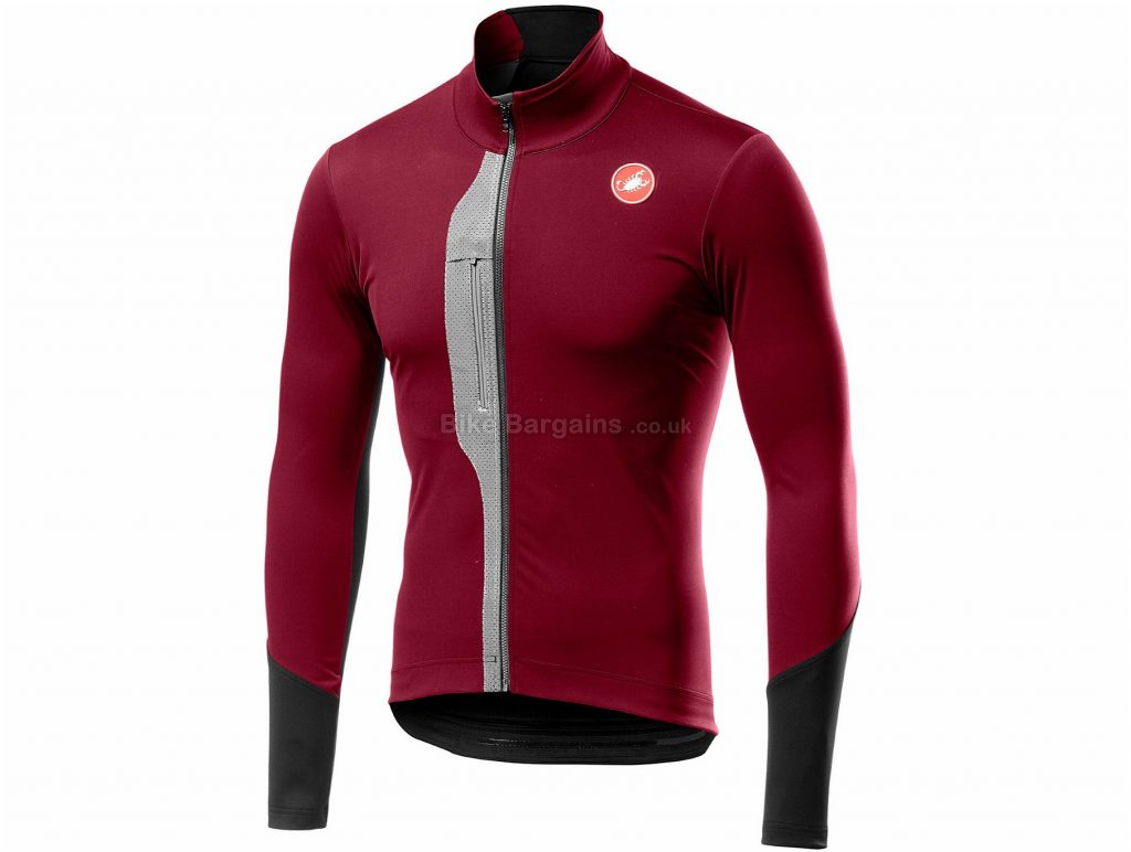 Castelli Trasparente V Long Sleeve Jersey S, Grey, Long Sleeve, Men's
