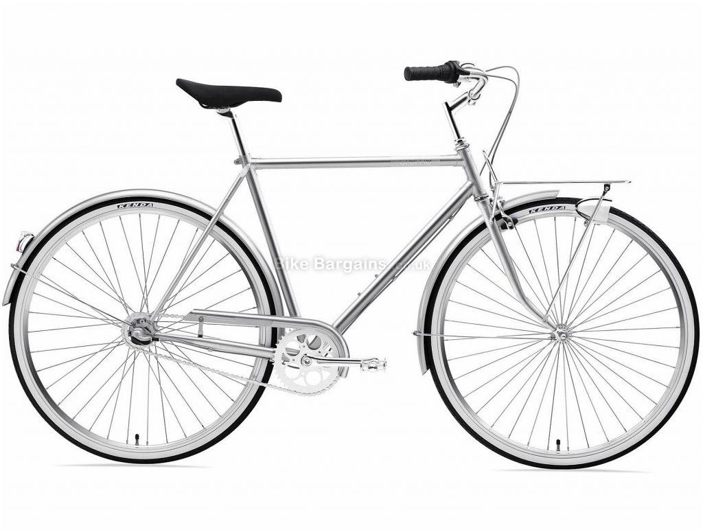 Creme Caferacer Man Uno Steel Urban Bike 2020 S,M, Silver, Steel Frame, Caliper Brakes, 3 Speed, Single Chainring, Hardtail, 14.8kg