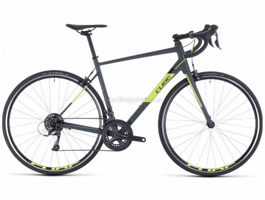 Cube Attain Endurance Alloy Road Bike 2020 47cm, Grey, Yellow, Alloy Frame, 16 Speed, Caliper Brakes, 700c Wheels, 9.6kg