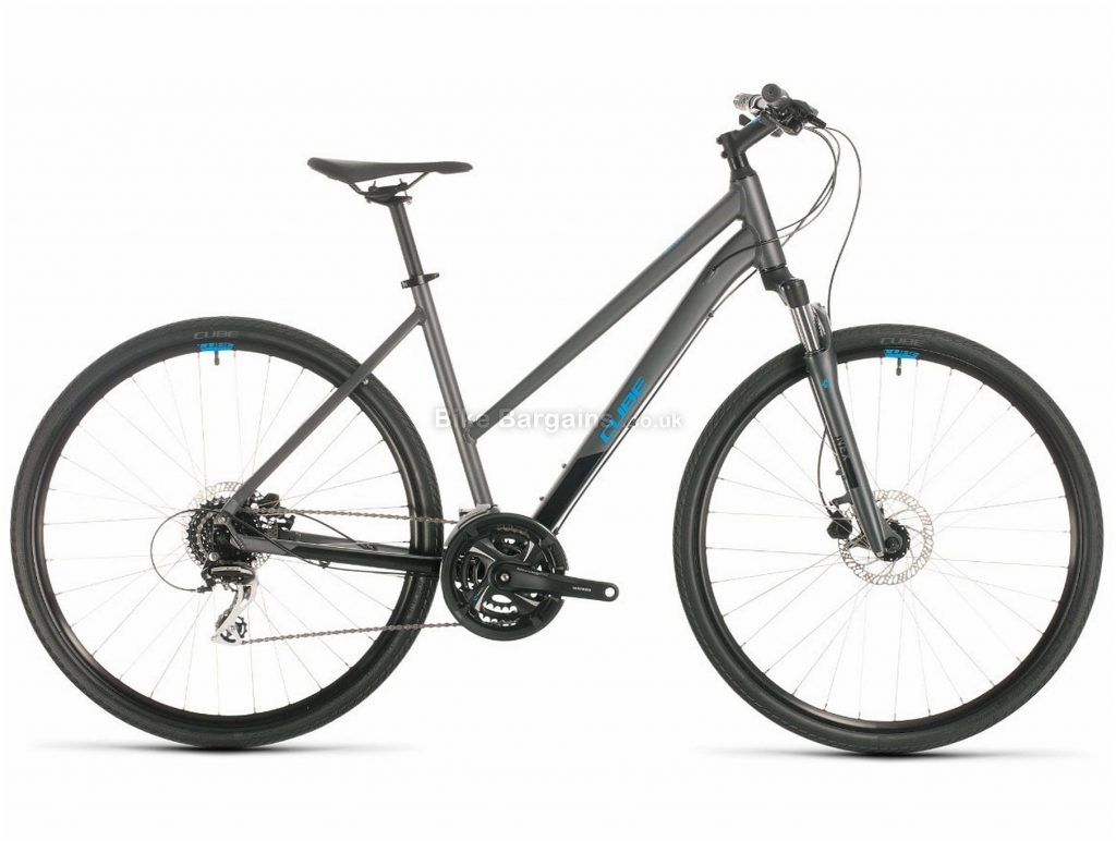 Cube Nature Ladies Alloy City Bike 2020 50cm, Black, Blue, Alloy Frame, 24 Speed, Disc Brakes, 700c Wheels, Hardtail, 13.9kg