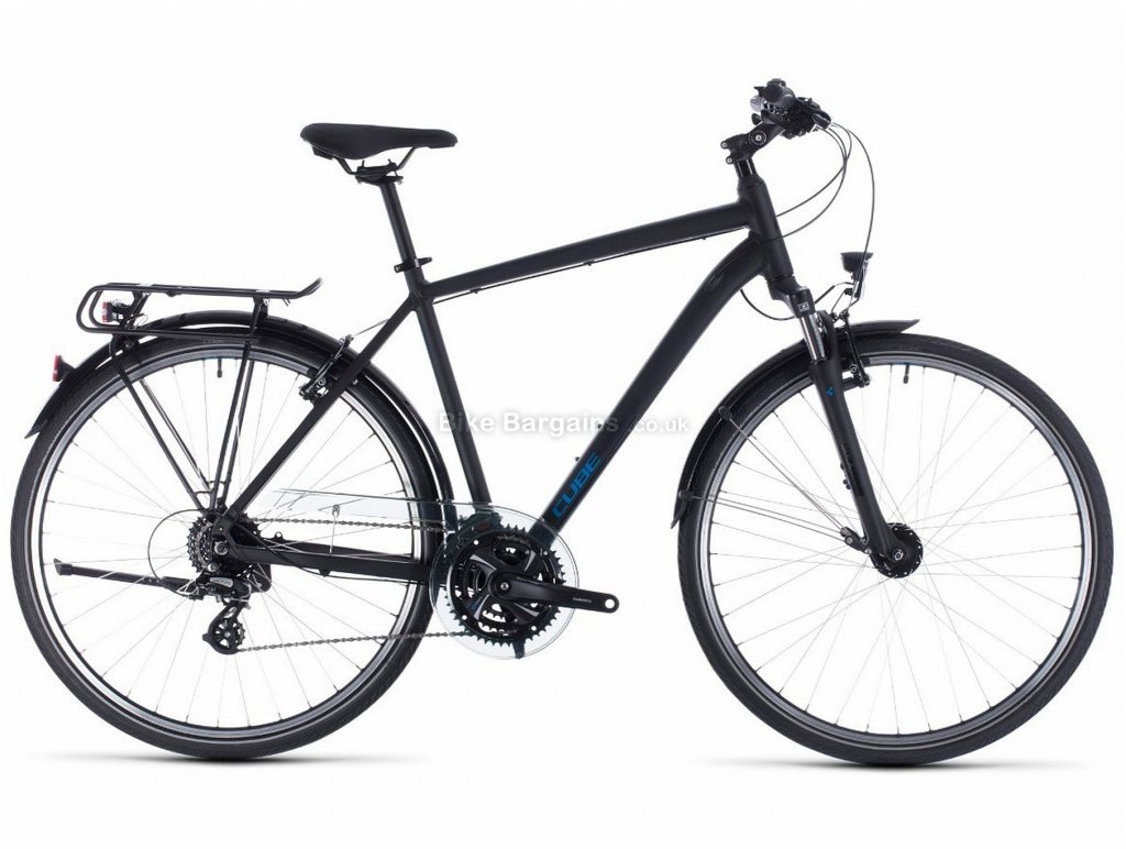 Cube Touring Alloy City Bike 2020 50cm, Black, Blue, Alloy Frame, 24 Speed, Caliper Brakes, 700c Wheels, Hardtail, 16.3kg
