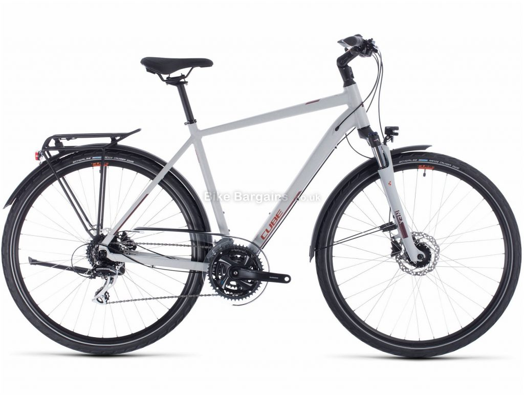 Cube Touring Pro Alloy City Bike 2020 54cm, Grey, Alloy Frame, Disc, 24 Speed, Triple Chainring, Hardtail, 16.9kg