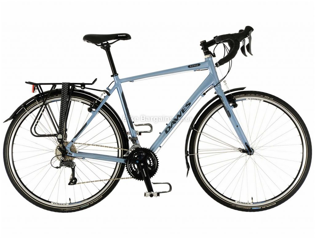 Dawes Galaxy Alloy Touring Bike 2020 46cm, Grey, Black, Alloy Frame, Caliper Brakes, 24 Speed, Triple Chainring, , 14.2kg