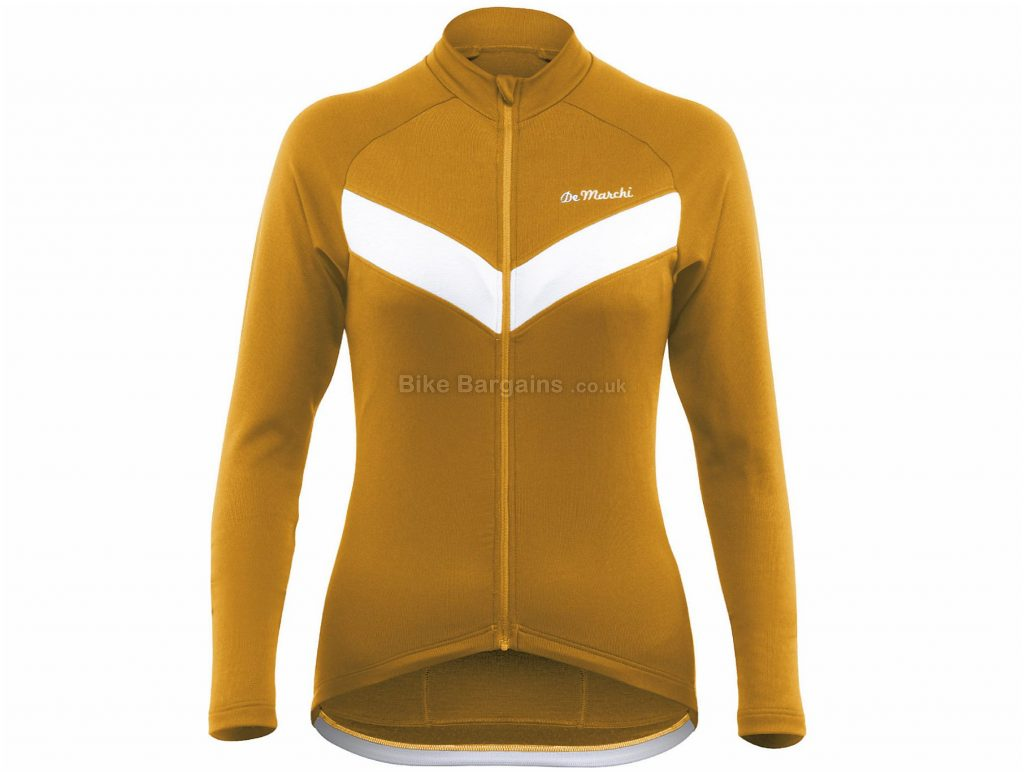De Marchi Ladies Classica Sportwool Long Sleeve Jersey L, Brown, Slim Fit, Long Sleeve, Polyamide, Merino, Wool