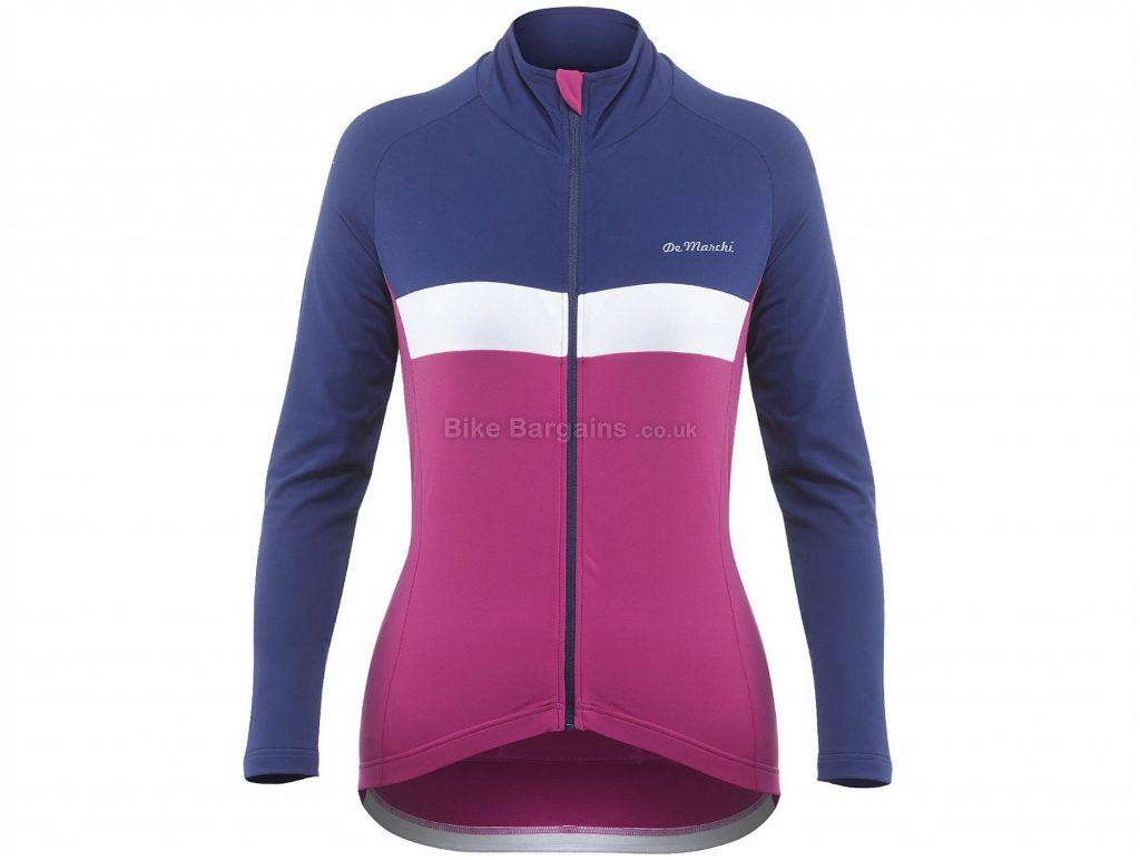 De Marchi Ladies Monza Roubaix Light Long Sleeve Jersey L, Purple, Pink, Slim Fit, 3 Rear Pockets, Long Sleeve, Polyamide, Elastane