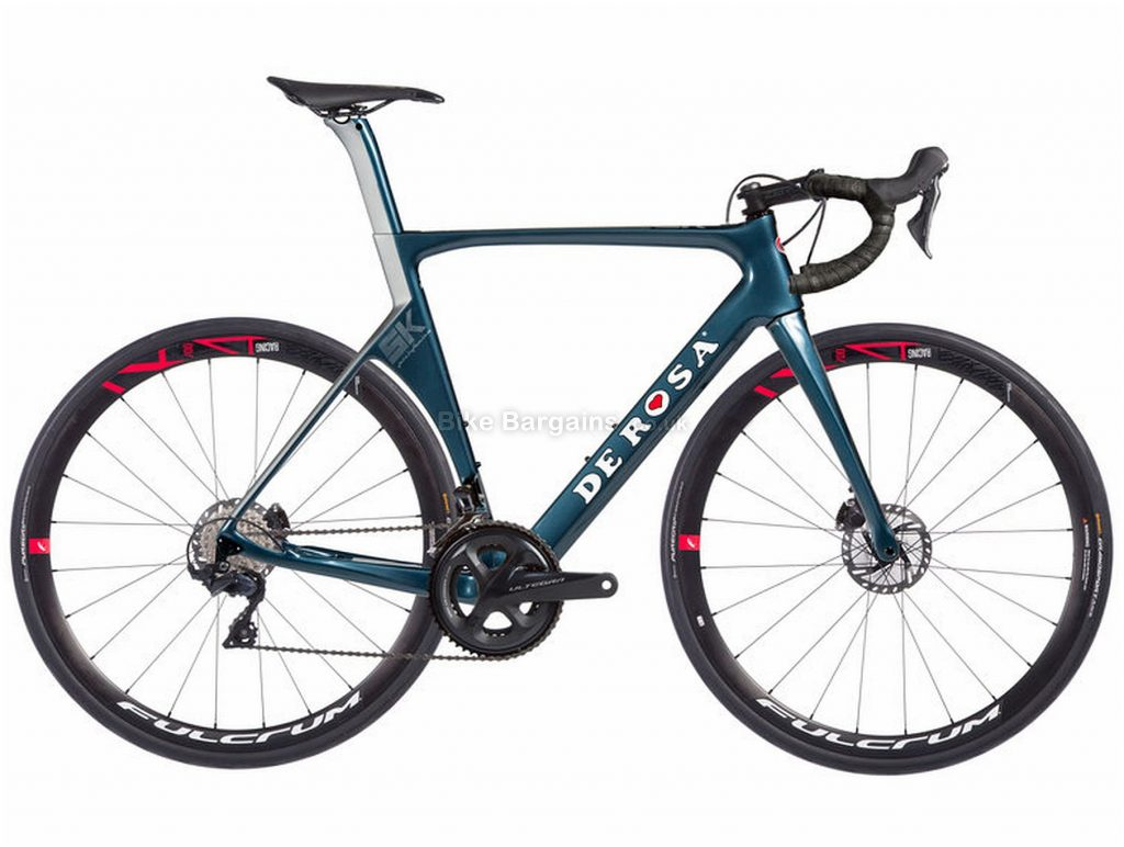 De Rosa SK Pininfarina Disc Ultegra Carbon Road Bike 2019 56cm, Blue, Carbon Frame, 700c, 22 Speed, Double Chainring, Disc