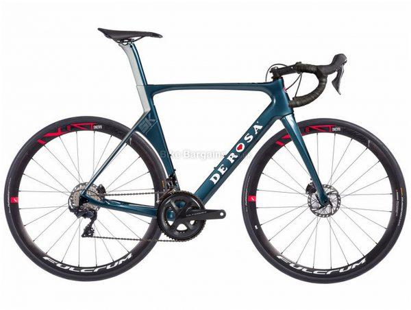 De Rosa SK Pininfarina Disc Ultegra Carbon Road Bike 2019 56cm, Blue, Carbon Frame, 700c, 22 Speed, Double Chainring, Disc