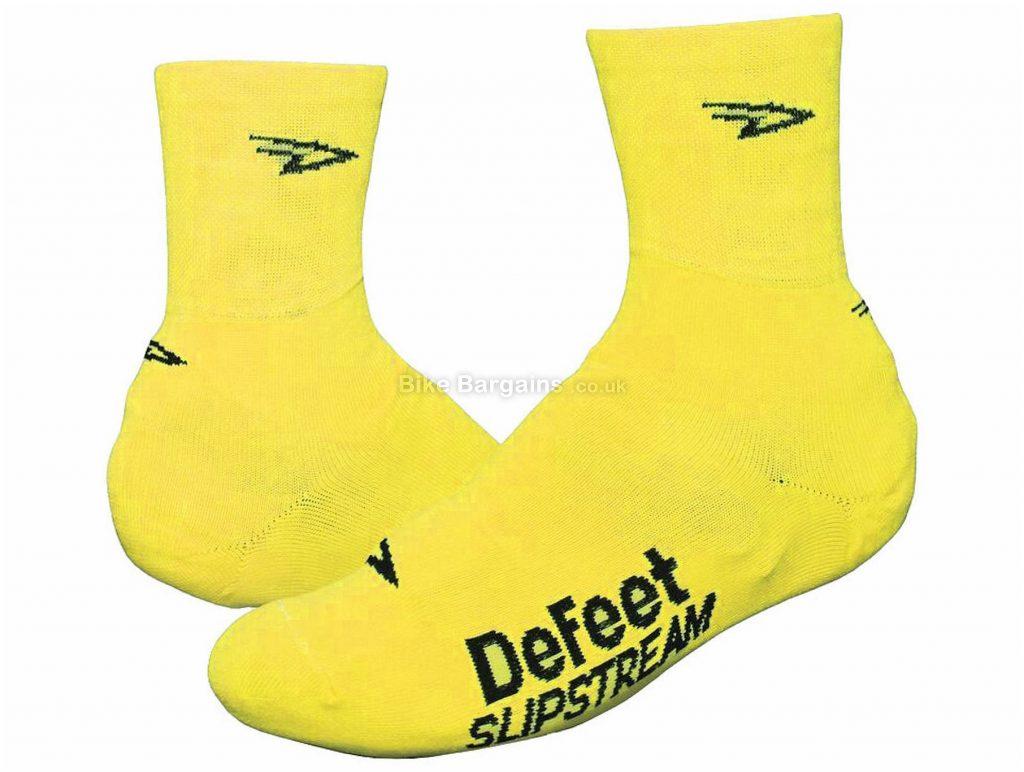 "DeFeet Slipstream 4"" Overshoes S,M, Yellow, Aerodynamic, Unisex, Polyamide, Elastane"