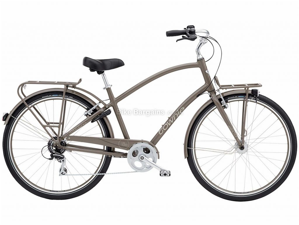 Electra Townie Commute 8D EQ Alloy City Bike 2020 M, Grey, Black, Alloy Frame, Caliper Brakes, 8 Speed, Single Chainring, Hardtail, 17.69kg