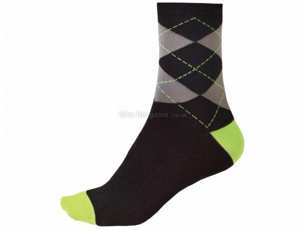 Endura Argyll Ultramarine Socks S,M, Black, Green, Blue, Stretch Fit, Coolmax, Elastane, Nylon