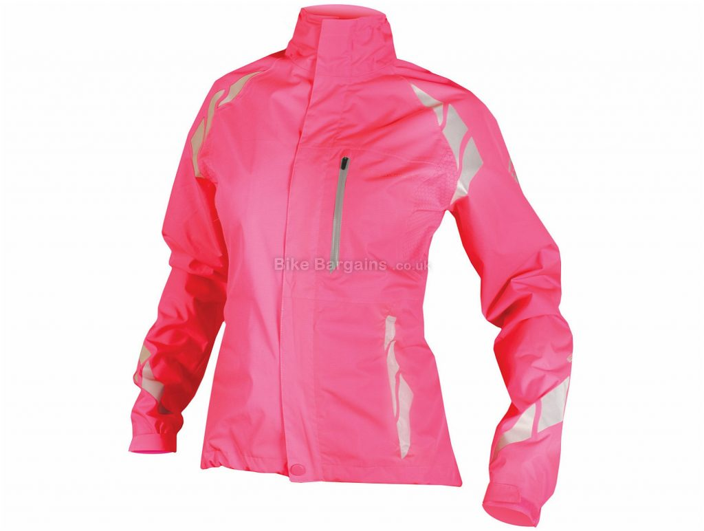 Endura Ladies Luminite DL Jacket XS,L, Pink, Waterpoof, Windproof, Breathable, Long Sleeve, Polyester