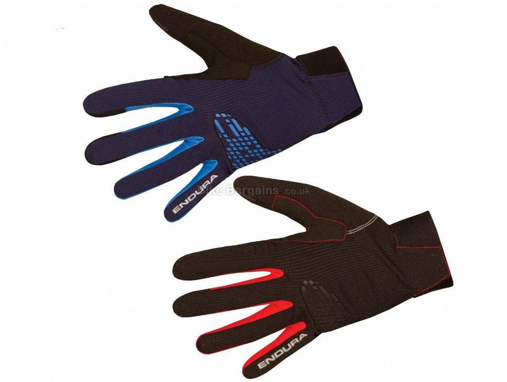 Endura Mtr 2 Gloves XXL, Black, Breathable, Lightweight Knuckle Protector, Full Finger, Men's, Synthetic Leather