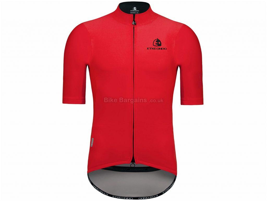 Etxeondo Dena Windstopper Short Sleeve Jersey XL, Pink, Short Sleeve, Men's