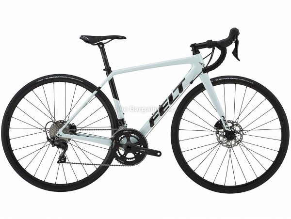 Felt FR5W Disc Ladies Carbon Road Bike 2019 54cm, White, Black, Carbon Frame, 700c, 11 Speed, Double Chainring, Disc Brake