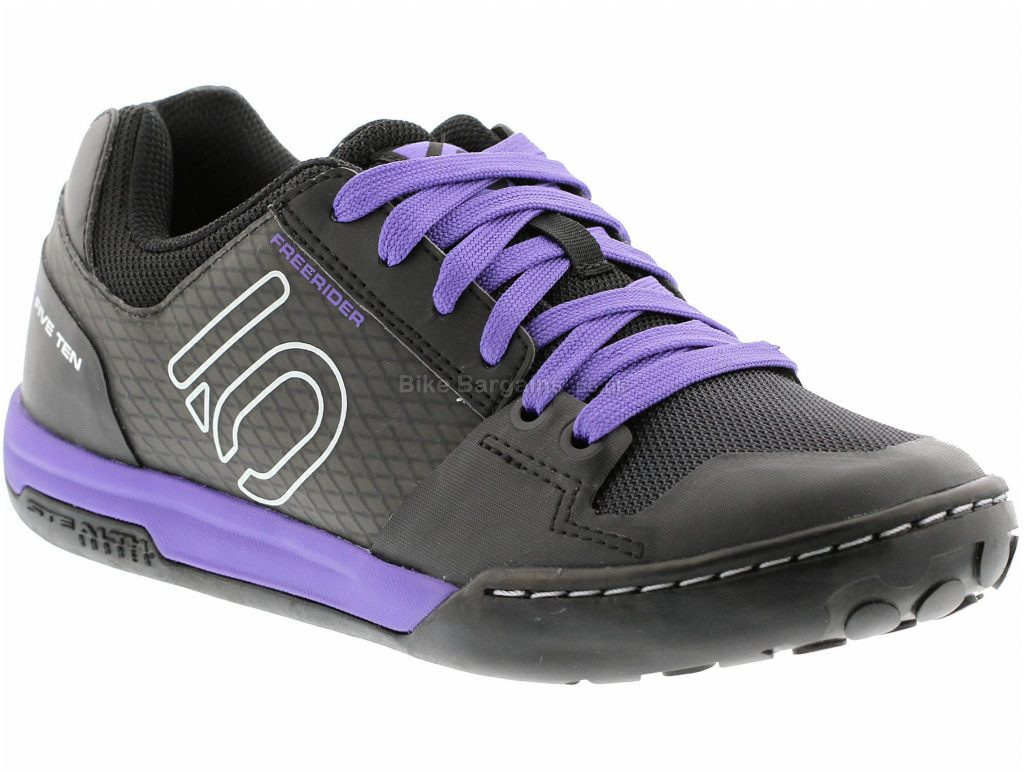 Five Ten Ladies Freerider Contact MTB Shoes 2019 45, Black, Purple, Ladies, Laces, Rubber
