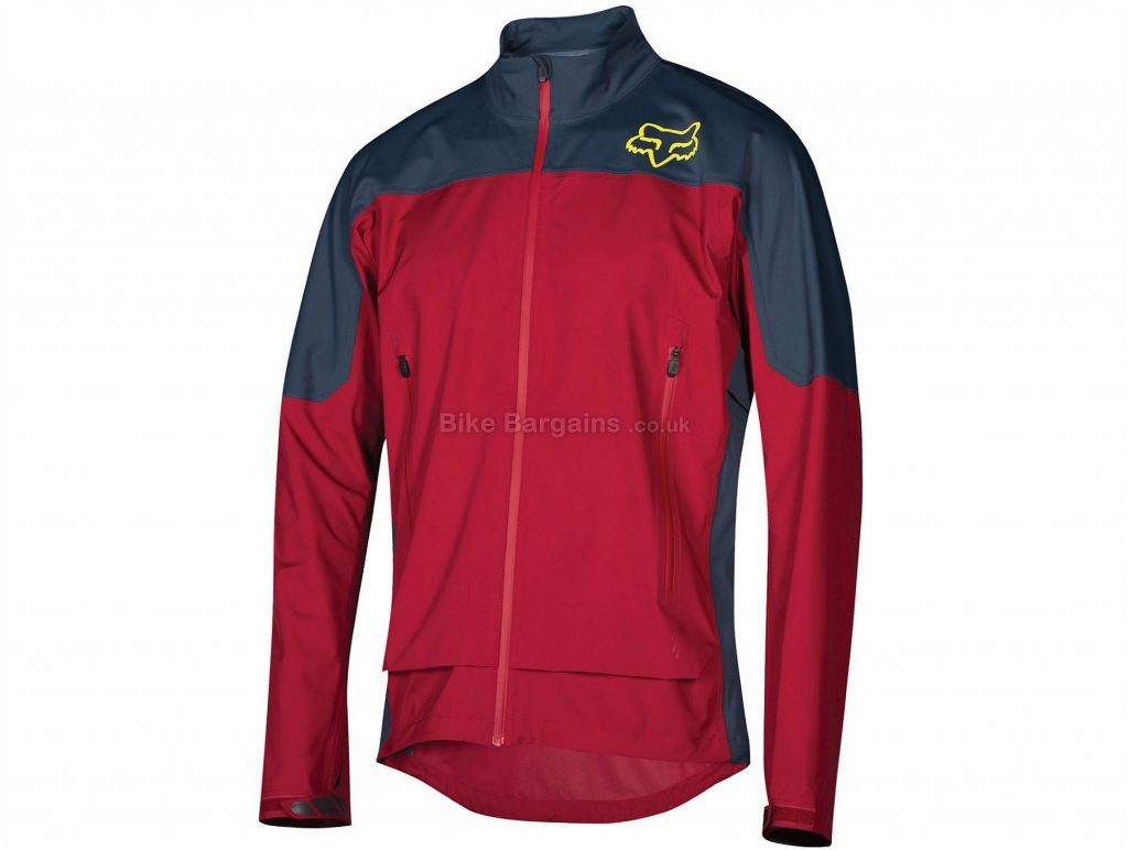 Fox Attack Water Jacket S, Red, Blue, Men's, Long Sleeve, Polyester