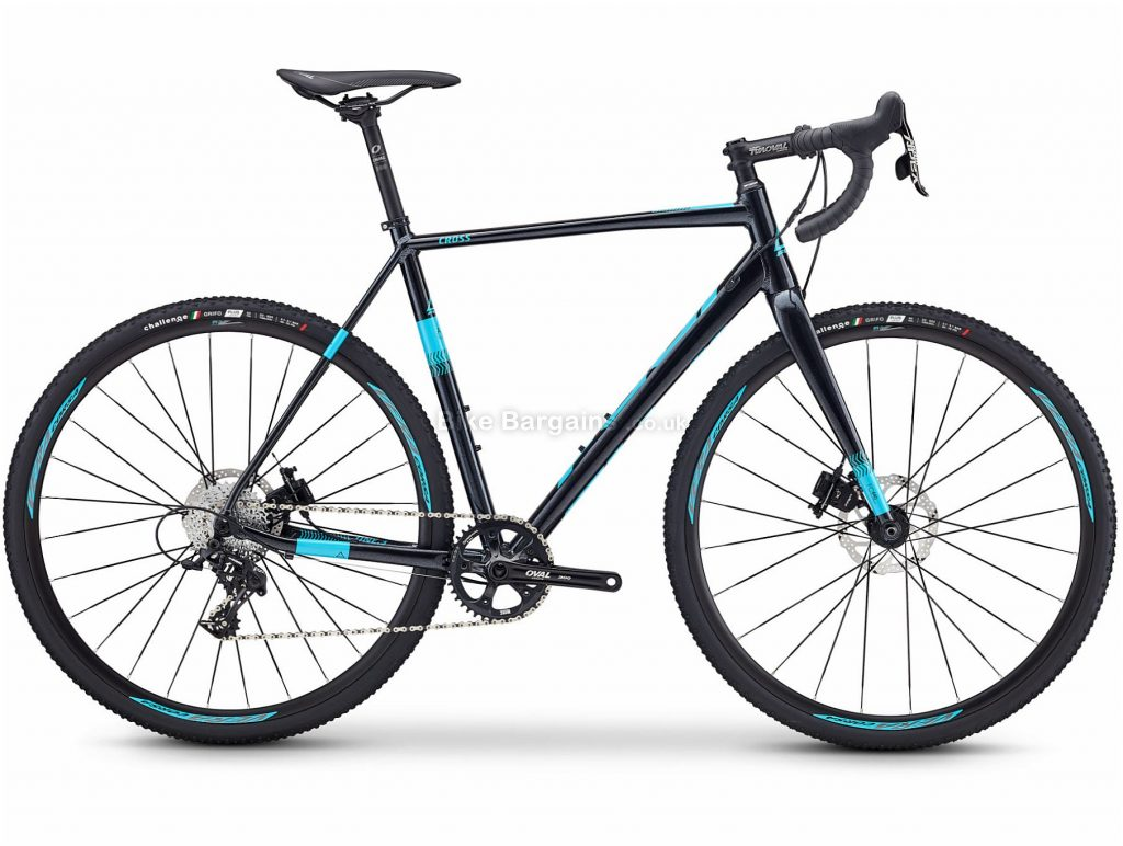 Fuji Cross 1.3 Alloy Cyclocross Bike 2019 52cm, Black, Turquoise, Alloy Frame, 700c, 11 Speed, Single Chainring, Disc Brake