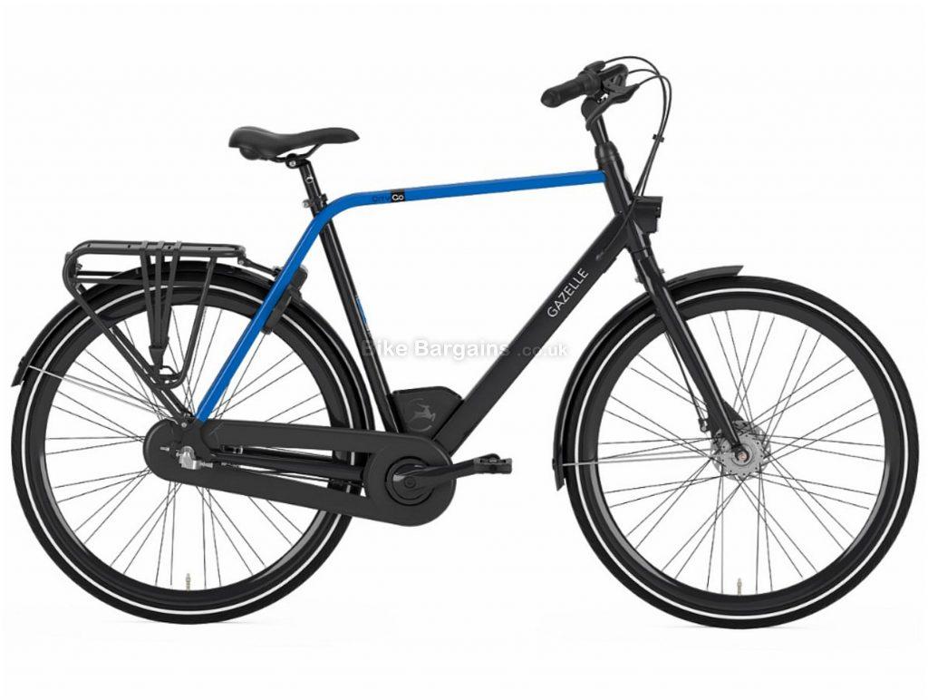 Gazelle CityGo C3 Crossbar Alloy City Bike 2020 49cm, Black, Blue, Alloy Frame, 3 Speed, Disc Brakes, 700c Wheels, Hardtail, 18.6kg