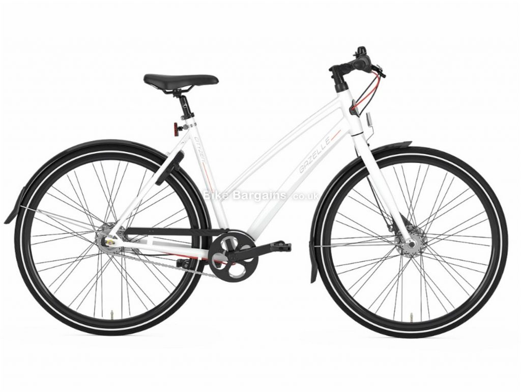 Gazelle CityZen C7 Trapeze Ladies Alloy City Bike 2019 53cm, White, Alloy Frame, 7 Speed, Disc Brakes, 700c Wheels, Hardtail, 14.7kg