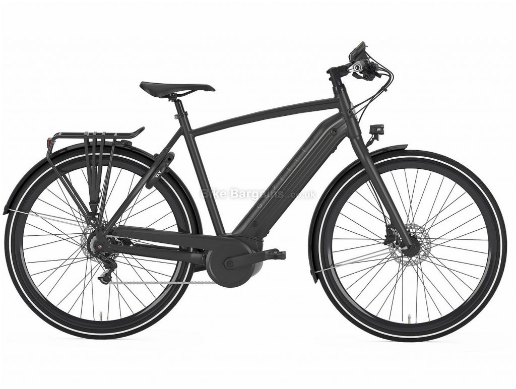 Gazelle CityZen C8+ HMB Electric Hybrid City Bike 2019 57cm, Black, Alloy, 22kg, 700c, Single Chainring, 8 Speed, Hardtail, Disc