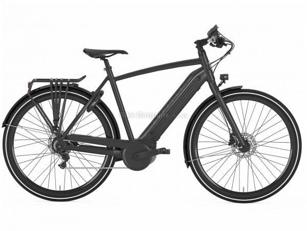 Gazelle CityZen C8+ HMB Electric Hybrid City Bike 2019 57cm, Black, Alloy, 22kg, 700c, Single Chainring, 8 Speed, Hardtail, Disc