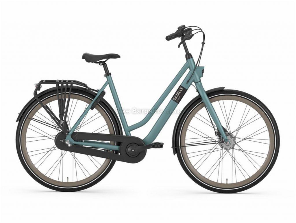 Gazelle Esprit T3 Lowstep Ladies Alloy City Bike 2020 46cm, Blue, Alloy Frame, 3 Speed, Disc Brakes, 700c Wheels, Hardtail