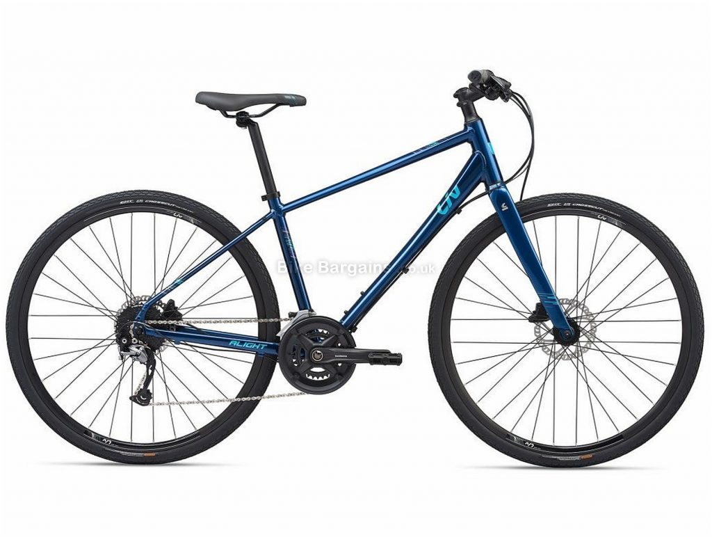 Giant Liv Alight 1 Disc Ladies Alloy City Bike 2020 L, Blue, Alloy Frame, 18 Speed, Disc Brakes, 700c Wheels, Hardtail
