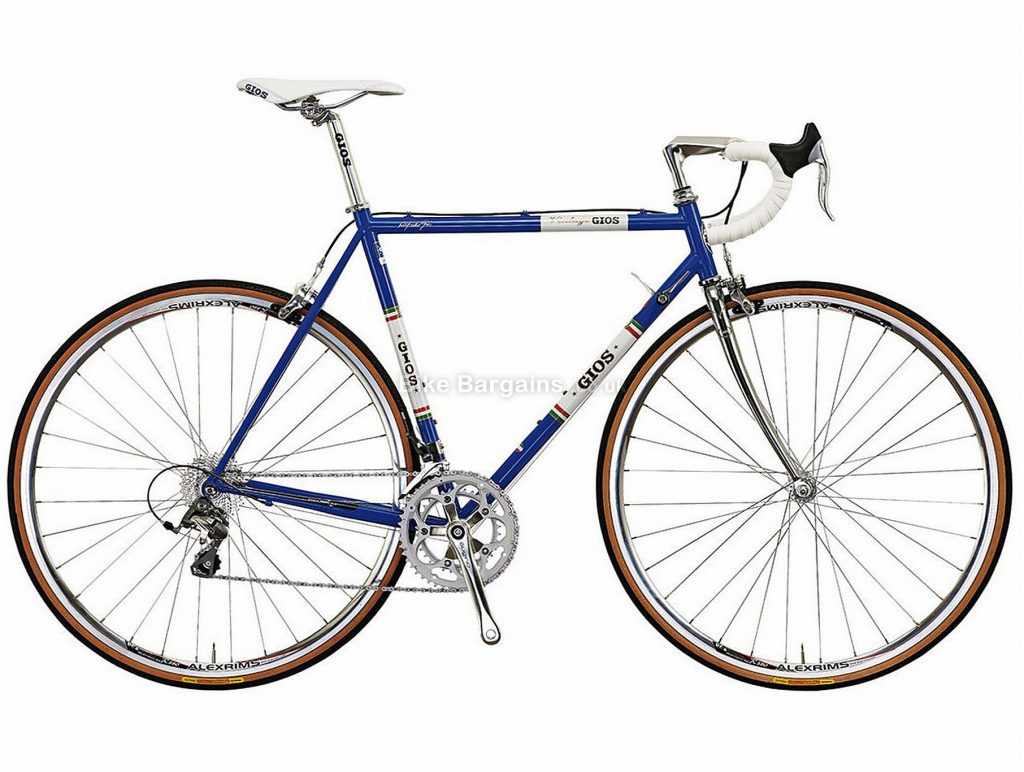Gios Vintage Tiagra Steel Road Bike 50cm, Blue, White, Steel, 700c, Caliper Brakes, 10 Speed, Double Chainring