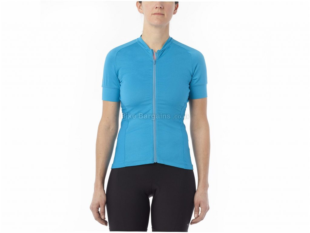 Giro Ladies Ride Light Short Sleeve Jersey L, Blue, Ladies, Short Sleeve, Polyester, Elastane