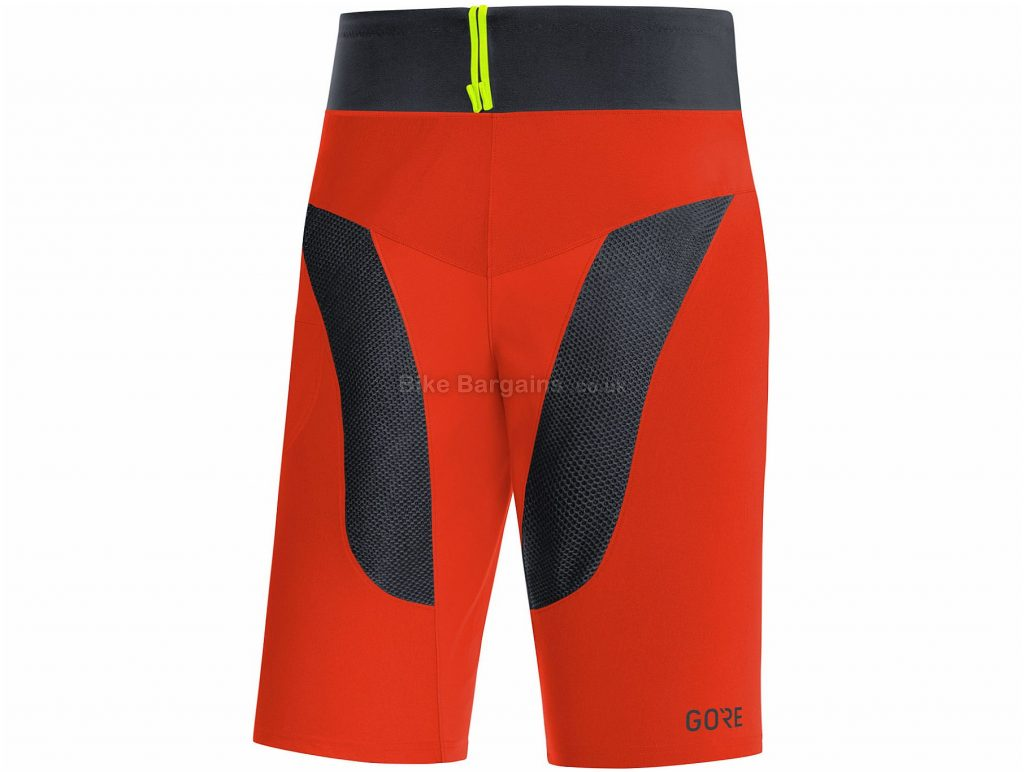 Gore C5 Trail Light Shorts L,XXL, Orange, Black, Men's, Baggy, Polyamide, Elastane