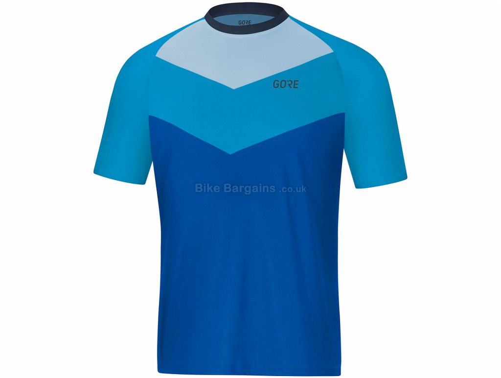 Gore C5 Trail Short Sleeve Jersey S, Turquoise, Men's, Short Sleeve, Polyester, Elastane
