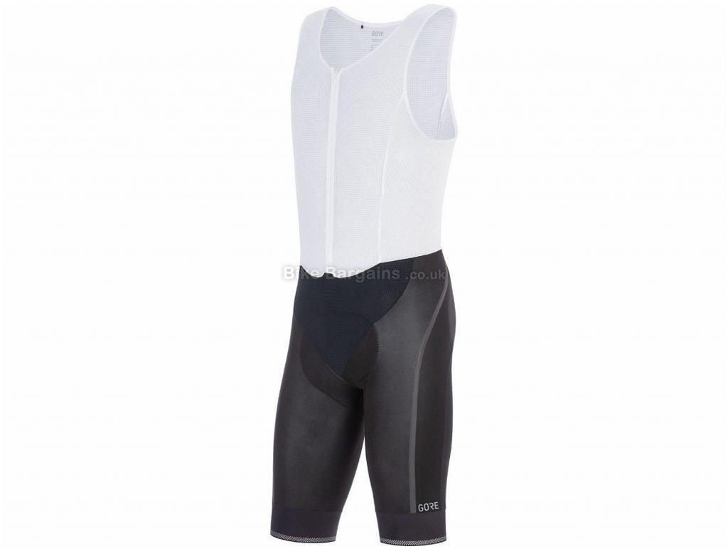 Gore C7 GTX I Bib Shorts XXL, Black, White, Wind Protection, Water-Resistance, Men's, Polyester, Elastane