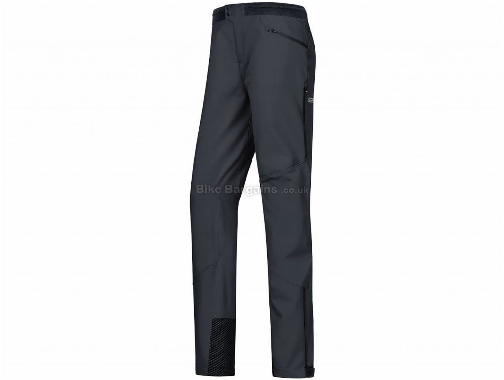 Gore H5 Ladies GWS Trousers XL, Black, Windproof, Water Repellent, Ladies, Polyamide, Elastane