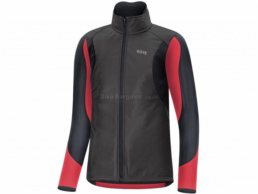 Gore Ladies C5 Gore-Tex Infinium Soft Lined Thermo Jacket 34, Black, Red, Ladies, Long Sleeve, Polyester