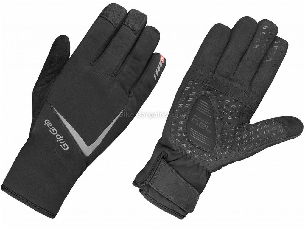 GripGrab Optimus Gloves XXL, Black, Waterproof & Windproof, Full Finger, Men's, Polyester, Polyamide, Elastane