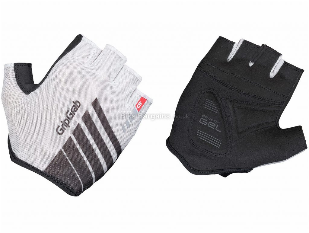 GripGrab Roadster Mitts S, White, Black, Breathable, Mitts, Men's, Polyester, Elastane, Polyamide