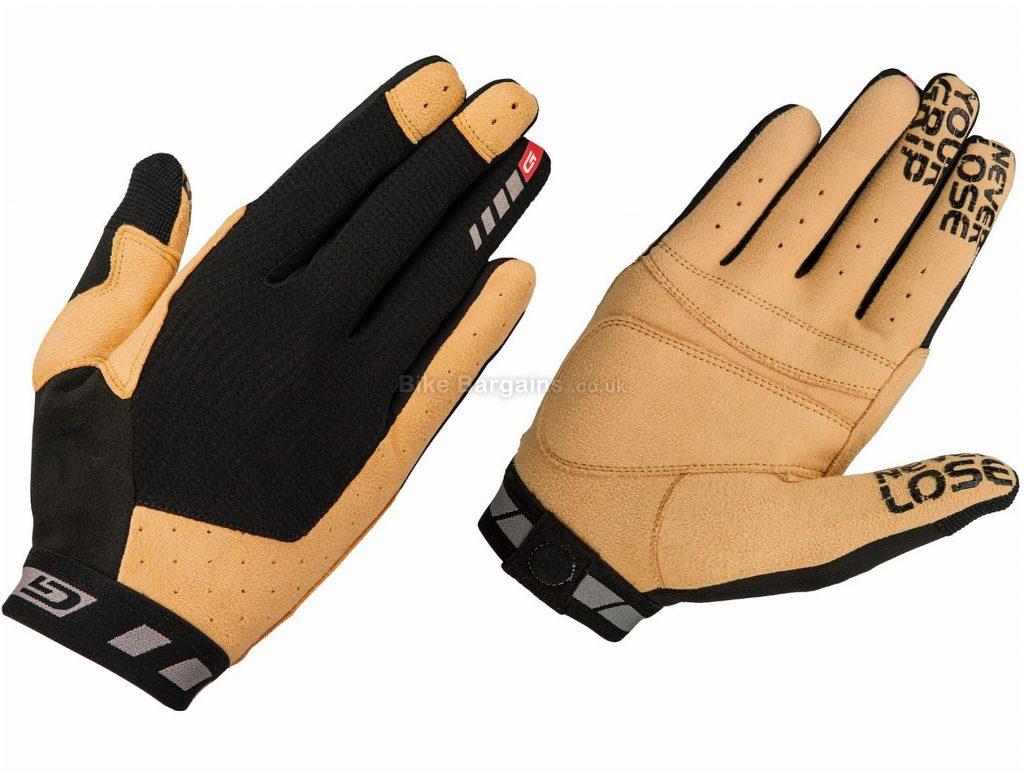 GripGrab Vertical Gloves XXL, Brown, Black, No Padding, Full Finger, Men's, Polyester, Polyamide, Elastane