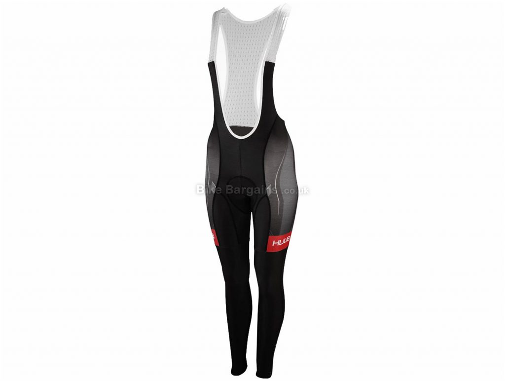 HUUB Ladies Core Thermal Bib Tights XL, Black, White, Ladies, Elastane, Polyamide, Thermal Fabric