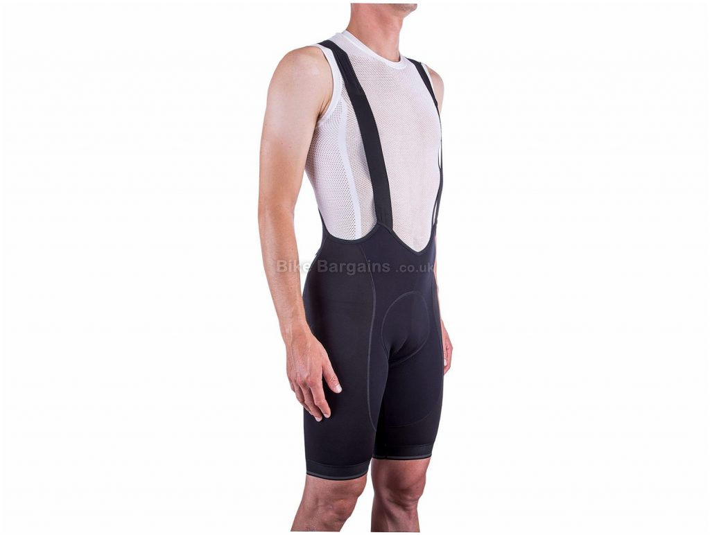 Isadore I7A3O7E Echelon Thermal Bib Shorts XS,S,XXL, Black, Four-Panel Construction, Men's, Polyester, Polyamide, Elastane